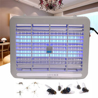 White 220V 1W Home LED Light Electronic Indoor Mosquito Insect Killer Bug Fly Zapper Trap For