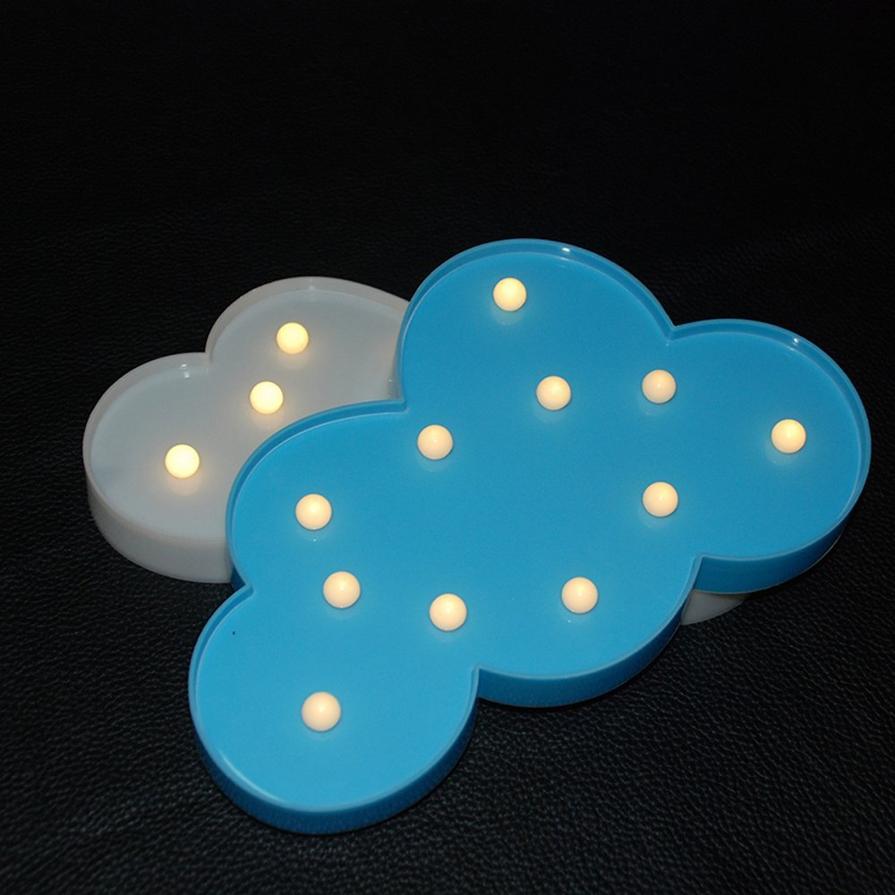 Fashion 3D Cloud Night light LED Plastic Baby Sleep Light Home Bedroom Decoration Creative Wall lamp For Childrens gifts80524