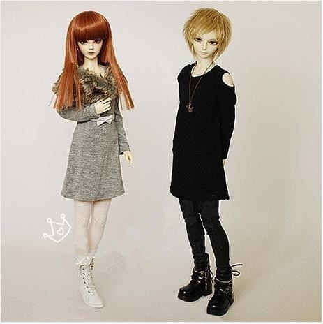 Fashion BJD Doll Off-Shoulder Long T-shirt  Unisex for BJD 1/4, 1/3 ,SD17,Uncle LUTS. DOD. AS  DZ. SD Doll Clothes CMB19