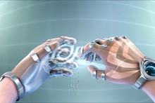 hands nvidia sculpture science fiction artwork holographic cyborgs cloth silk art wall poster and prints