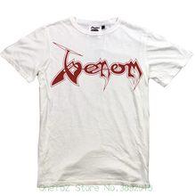 16792d99a490 Fashion Design Free Shipping Venom Logo White T-shirt Venom Band Tshirt S M  L Xl Xxl Possessed Black Metal