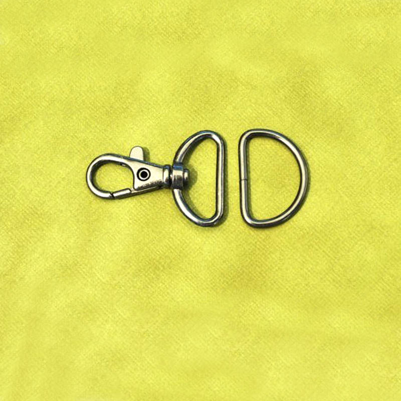 40 Of 1 Inch Loop End Gunmetal Swivel Clasps Lobster Claw Hooks And 40 Of 1 Inch Gunmetal D Rings