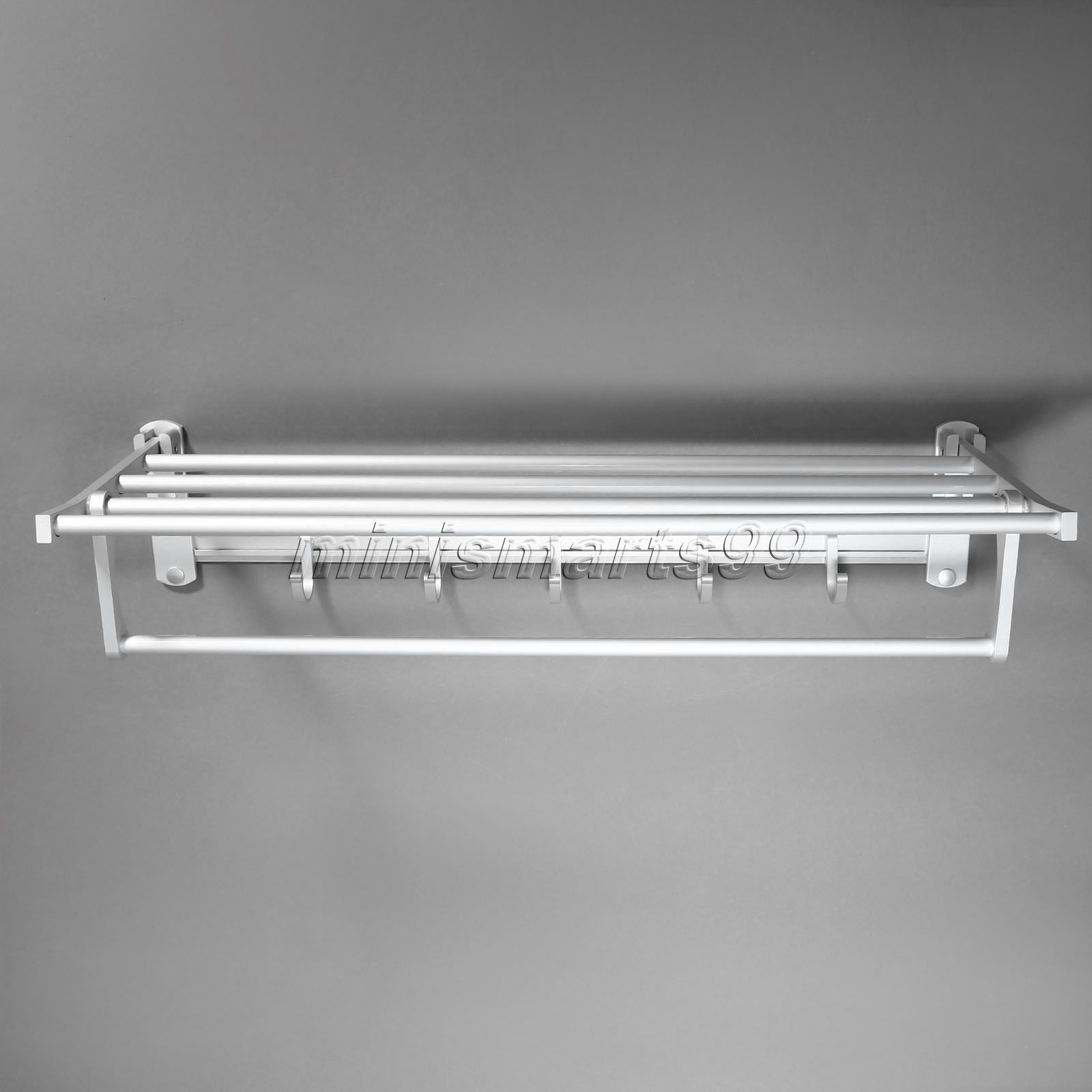 Bathroom Towel Corner Shelves Holders Aluminum Wall Mounted Bathroom ...