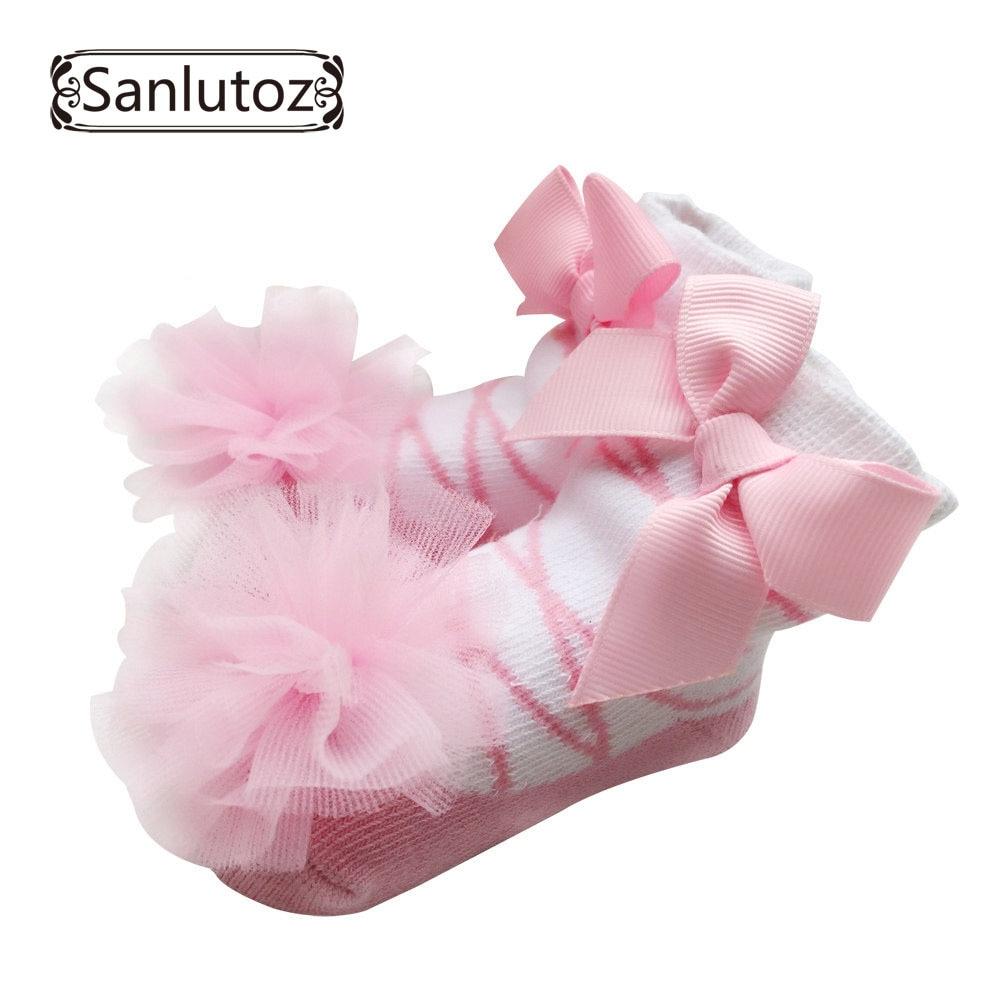 Sanlutoz, calcetines para bebés, calcetines para niñas, recién nacidos, calcetines para princesas, vacaciones, regalos de cumpleaños para niñas, moda 0-12 meses