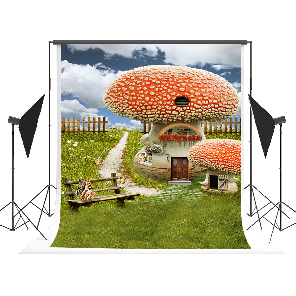 Kate Fairy Tale Backdrop Cartoon Forest Photography Background Mushroom Photographer Props for Kids Party Fond Studio Photos photo background 5x7ft fairy tale mushroom house photography backdrop studio props for children