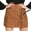 LIVA GIRL women skirt up suede leather high quality 2017 summer bandage pencil skirt Sexy party skirt