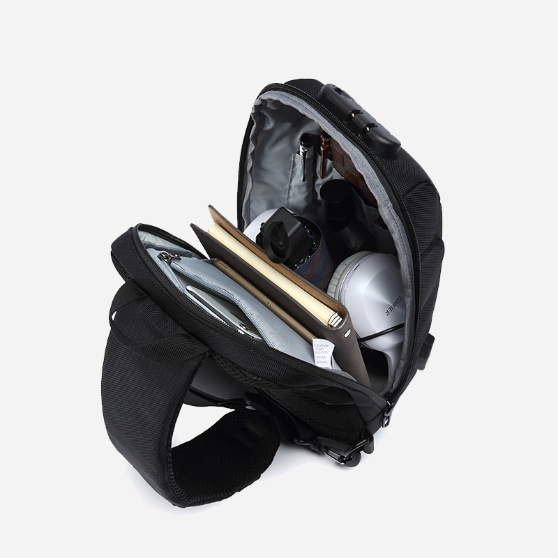Multifunction Crossbody Bag for Men Anti-theft Shoulder Messenger Bags Waterproof 3