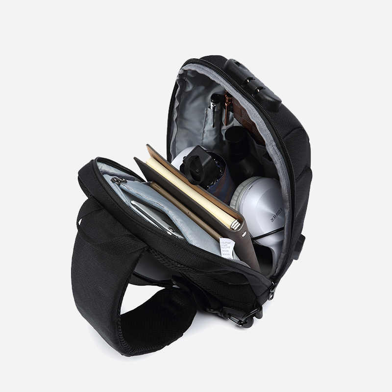 OZUKO 2019 New Multifunction Crossbody กระเป๋าสำหรับผู้ชาย Anti-Theft ไหล่ Messenger กระเป๋ากันน้ำชายสั้นกระเป๋าแพ็ค