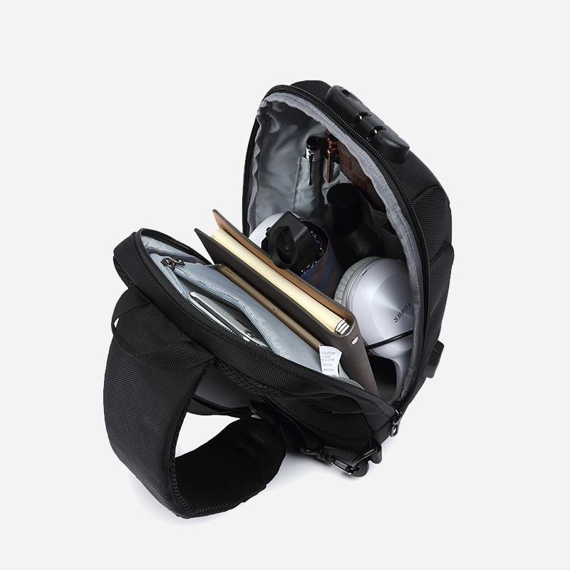 OZUKO 2021 nouveau sac à bandoulière multifonction pour hommes Anti-vol épaule sacs de messager mâle étanche court voyage poitrine sac Pack