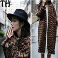 Новая зимняя свитер женский пальто свободные Корейский вязать кардиган V толстый длинный рукав пальто женские зимние куртки негабаритных свитер SW030