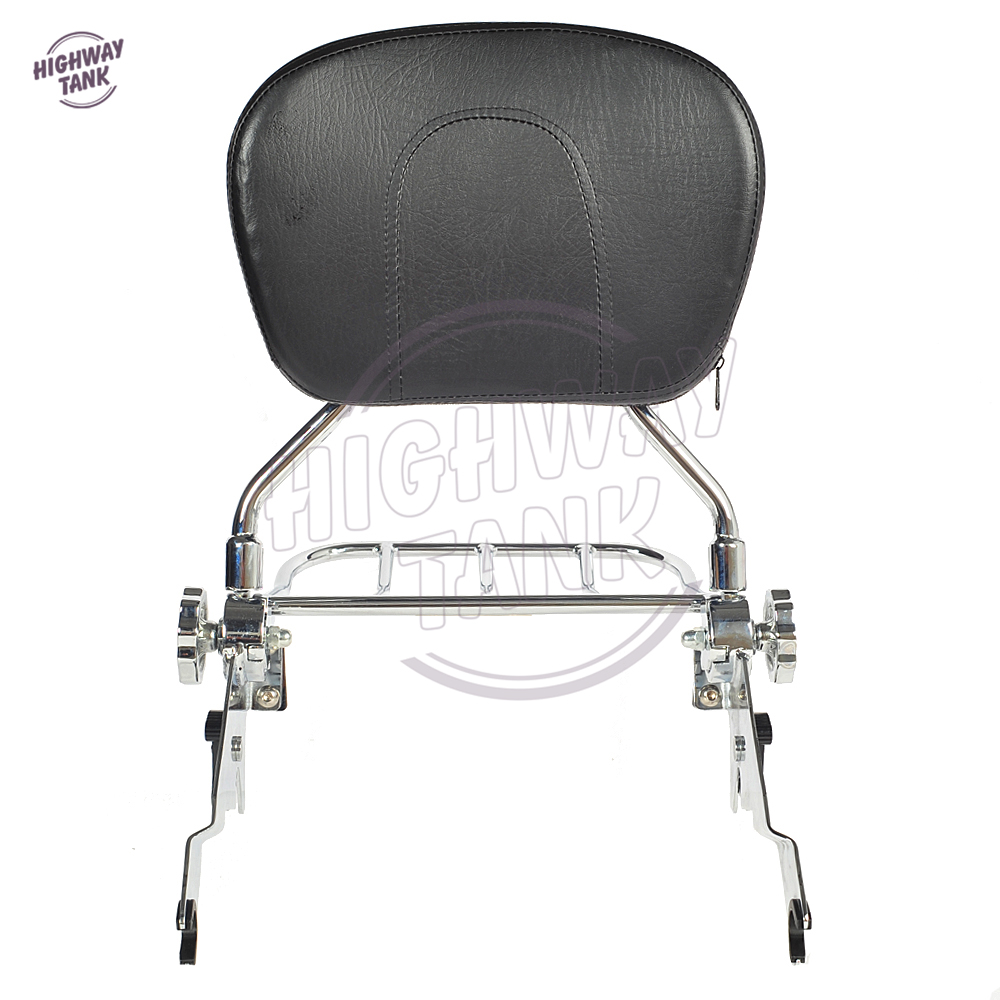 Chrome Motorcycle Detachable Backrest Sissy Bar & Luggage Rack Moto Rear decoration case for Harley Touring 2009-2017 partol black car roof rack cross bars roof luggage carrier cargo boxes bike rack 45kg 100lbs for honda pilot 2013 2014 2015