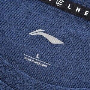 Image 3 - Li ning גברים אימון תרגיל חולצות 100% פוליאסטר לנשימה רגיל Fit רירית לי נינג ספורט טי חולצות AHSP041 MTS3091