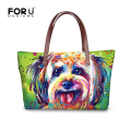 FORUDESIGNS 2017 Luxury Women Large Handbag,Dog Print Ladies Big Shoulder Bag,High Quality Tote Bags,Famous Brands Woman Handbag