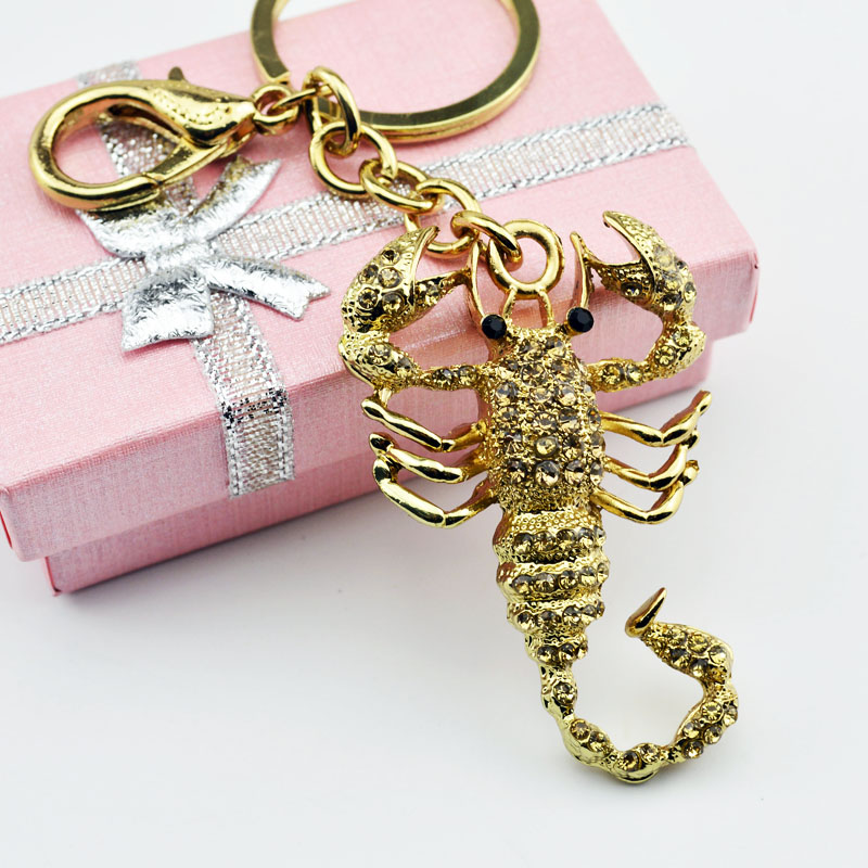 Fashion Scorpion Metal Pendant Crystal Charm Purse Car Keyring Luxury - Fashion Jewelry - Photo 5