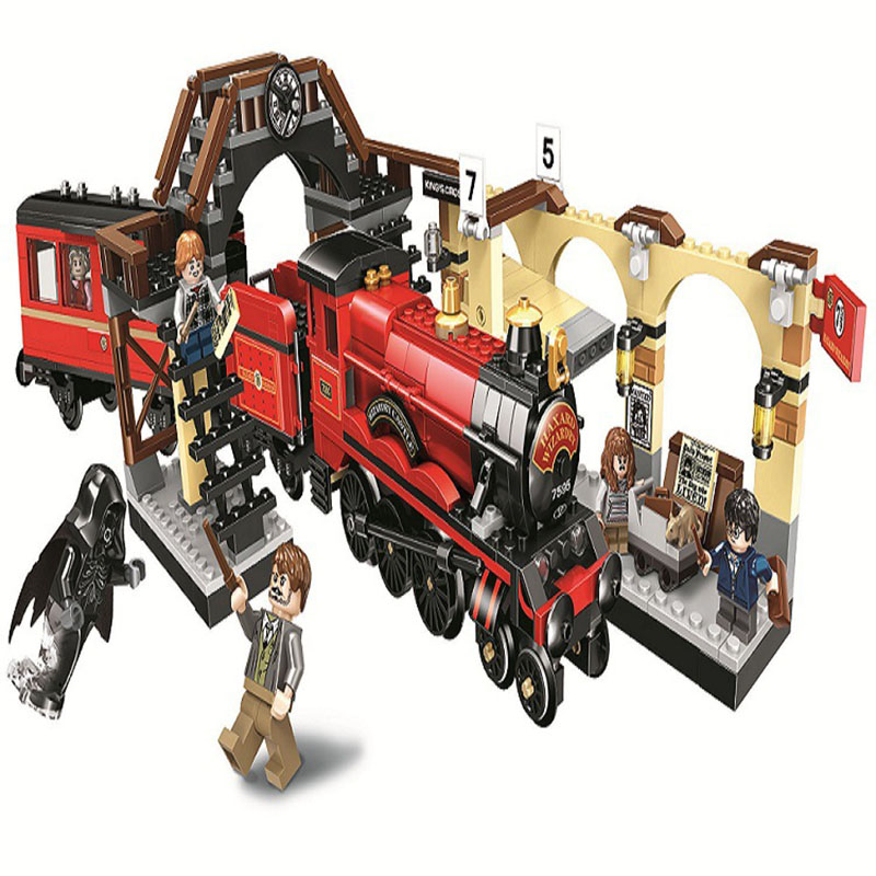 11006 Compatible Legoing Harry Potter Hogwarts Express Train Block Set Cross Station Building Brick Toy For Kids 832pcs Cheap Sales