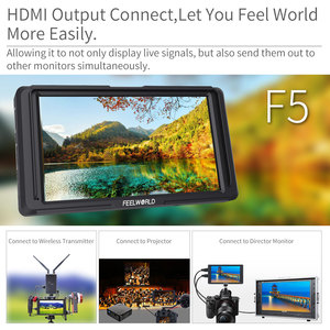 """Image 2 - FEELWORLD F5 5"""" DSLR On Camera Field Monitor Small Full HD 1920x1080 IPS Video Peaking Focus Assist with 4K HDMI 8.4V DC Output"""