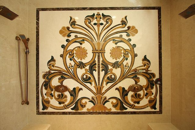 water jet marble design medallion,marble inlay medallion for wall ...