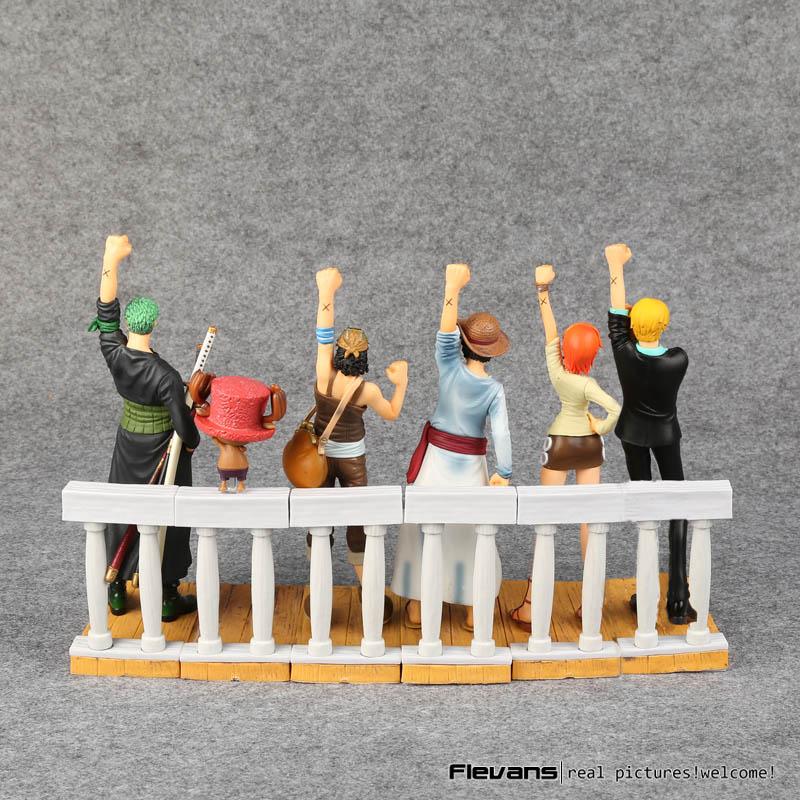 Anime One Piece dramatyczny prezentacja 1st sezon Luffy Zoro Nami Usopp Sanji Chopper pcv figurki kolekcjonerskie zabawki 6 sztuk/zestaw w Figurki i postaci od Zabawki i hobby na AliExpress - 11.11_Double 11Singles' Day 1