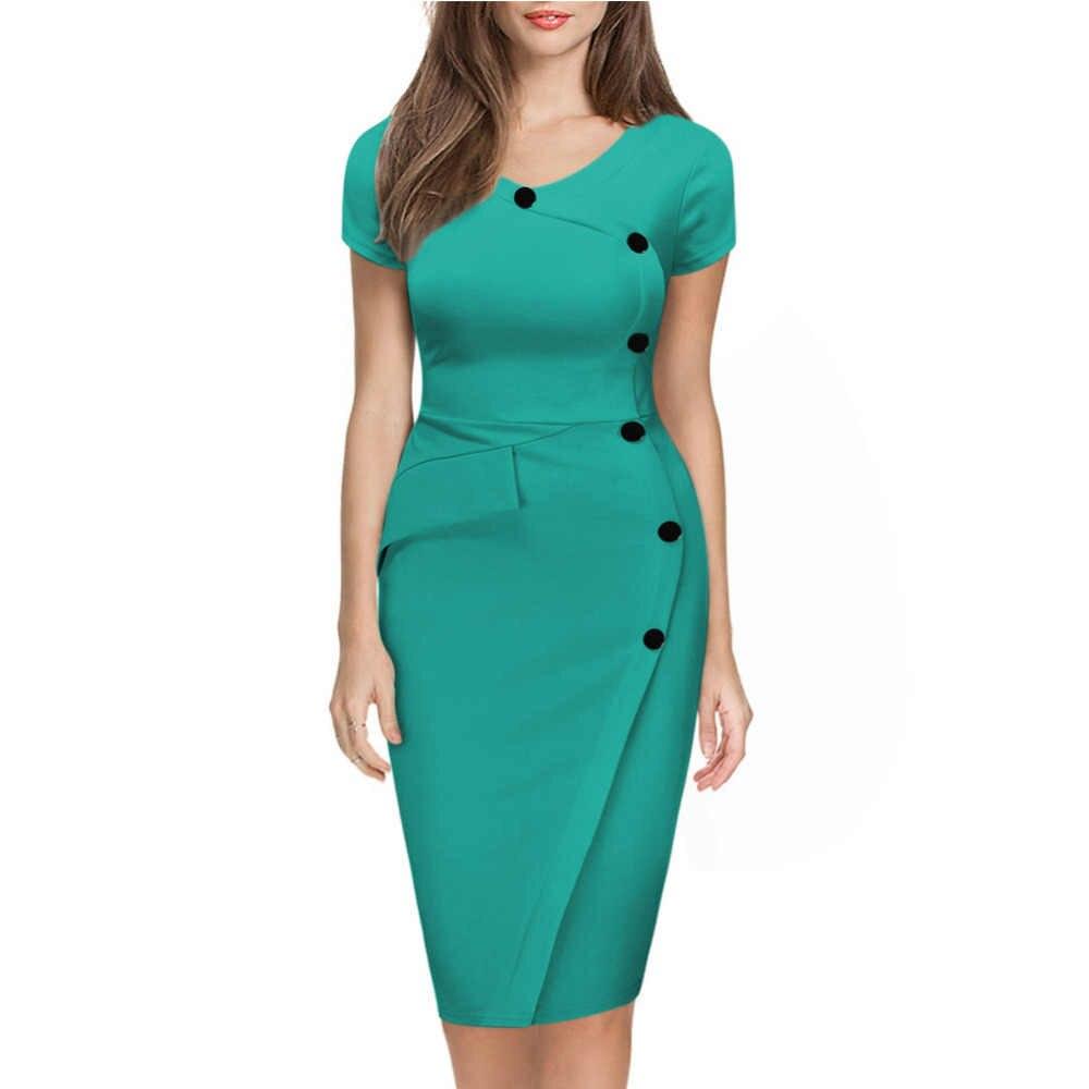 bad9c23884b ... Для женщин  Большие размеры 3XL v-образным вырезом короткий рукав  желтый наряд с кнопкой ...