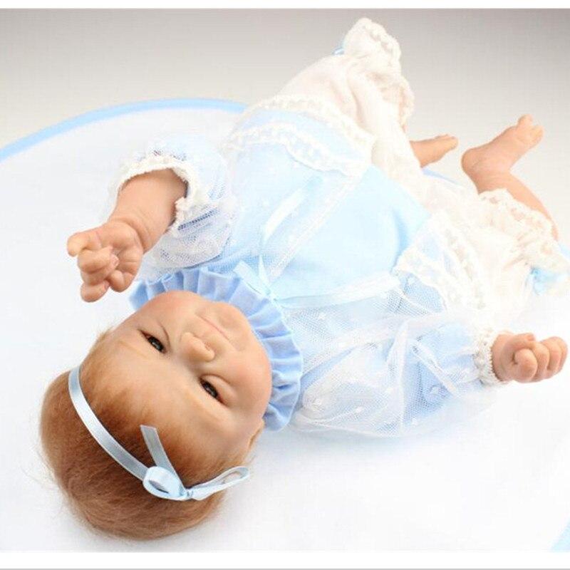 NPK Collection Reborn poupée Silicone doux poupées jouet 40 cm/16 pouces, réaliste poupée enfant cadeau d'anniversaire réaliste bébé nouveau Reborn jouet - 6