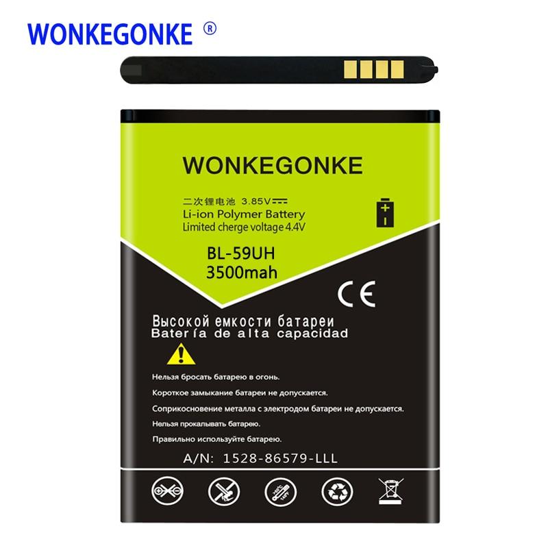 51337d53aca WONKEGONKE G2 Mini Battery FOR LG G2mini D618 D620 D620R D620K D315 F70 Bateria  BL-59UH BL59UH Batteries Bateria