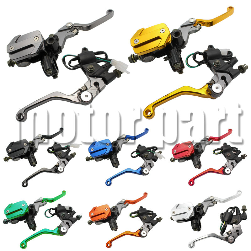 Dirt bike with 22MM 7/8 Handlebars Brake Clutch Master Cylinder Reservoir Levers For Kawasaki KX 125 250 KLX125 D-TRACKER125 free customs fee 1000w 36v 17 5ah battery pack 36 v lithium ion battery 18ah use samsung 3500mah cell 30a bms with 2a charger