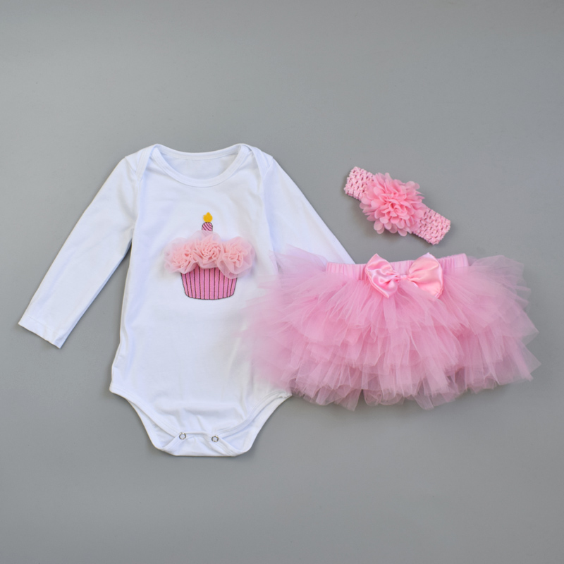 9000780684f2 Aliexpress.com : Buy 3Pcs Baby Girl clothing Set Fashion Newborn Infant  Tutu Skirt Organic Cotton Cartoon Bodysuits with handband Petticoat Clothes  from ...