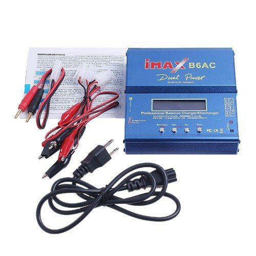Professional Balance Charger, IMAX B6-AC B6AC Lipo NiMH 3S RC Battery Charger for Batteries Lipo / Li-ion / LiFe / NiMh / NiCd gg22 charger for 5 pin nimh battey geb70 geb77 geb187 etc