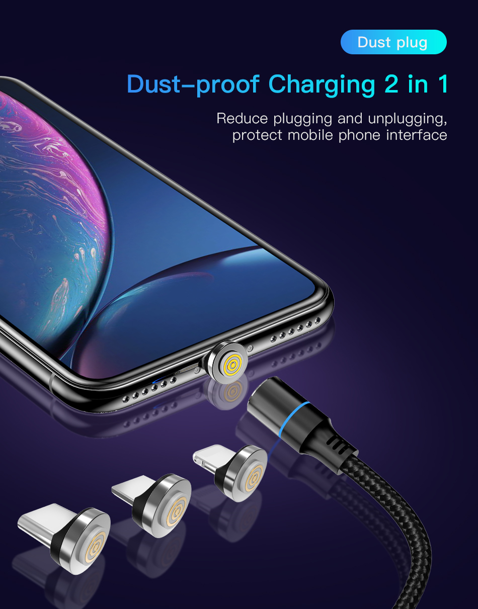 !ACCEZZ 3A Magnetic Cable Fast Charging Data Sync Micro USB Type C Charge Cable For iPhone X XS MAX XR Samsung Xiaomi Redmi Cord (9)