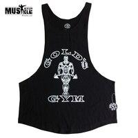 Gymwear Camicia Muscolare Bodybuilding e Fitness Vest Uomini Bodybuilding Canotta Serbatoi di Fitness Sleeveless del Cotone del vestito Più 2XL