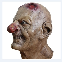 Cabeça Máscara De Látex Realista Assustador Sangrento Zombie Horror Máscaras De Borracha Completa Rosto Halloween Masqueradde Partido Adereços Cosplay Adulto Tamanho