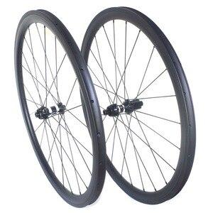 Image 1 - Disc brake clincher road carbon wheels center lock 38mm 45mm 50mm 60mm tubular wheelset 25mm width