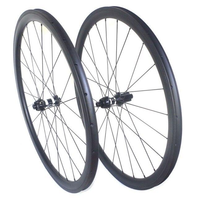 Disc brake clincher road carbon wheels center lock 38mm 45mm 50mm 60mm tubular wheelset 25mm width