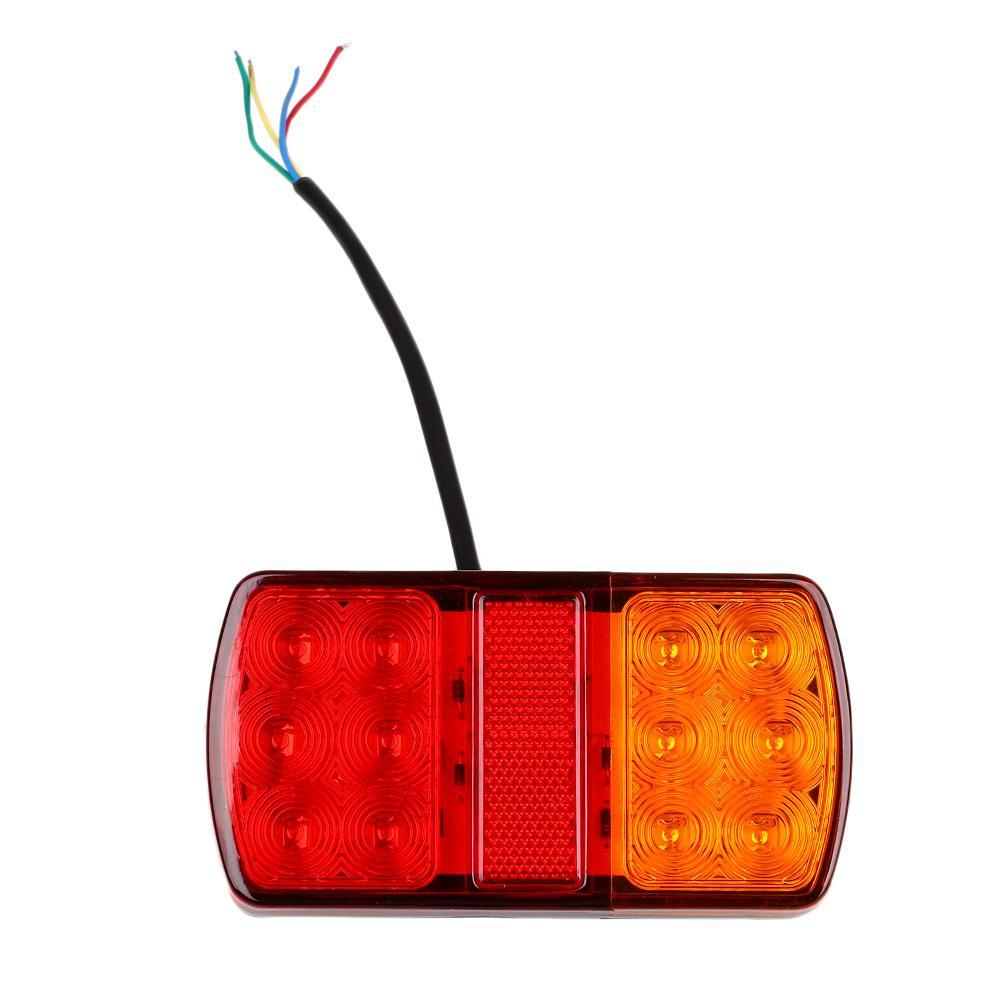 12V 12 LED Trailer Truck Stop Rear Tail Lights Indicator Caravan Lorry