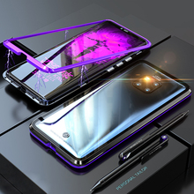 Luxury Magnetic Adorption Armor Case For Huawei Mate 20 Pro Lite Metal&Glass Cover 20Pro 20Lite Mate20