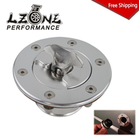 FREE SHIPPING Aluminum Billet Fuel Cell / Fuel Surge Tank Cap Flush Mount 6 bolt Mirror Polished Opening ID 35.5mm JR SLYXG01