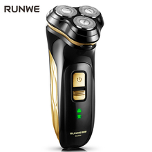 RUNWE Electric Shaver For Men Whole body Washing Razor Touch Electronic Switch Shaving Machine Barbeador Face Care RS988