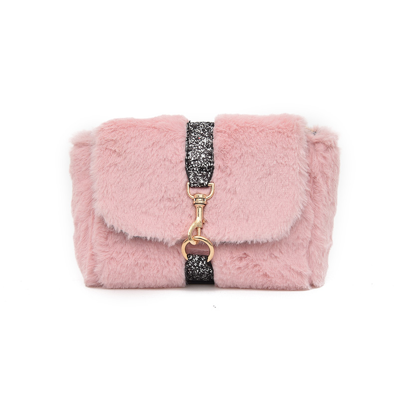 2017 Winter Faux Fur Leather Small Women Messenger Bag Fashion Female Plush  Crossbody Bag with Chain Women Bags over Shoulder-in Top-Handle Bags from  ... fa5ff11dcbf0a