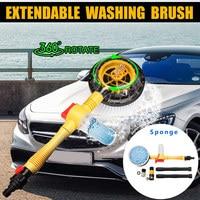 High Pressure Car Foam Brush Non slip Handle Rotating Automatic Sponge Hose Brush Washing Clean Car wash Accessories