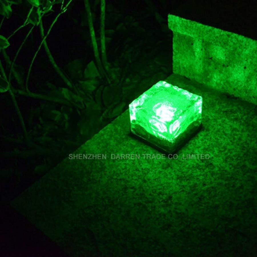 IP55 ice glass Solar Ice Brick Light Ice Glass Brick Led Light led solar light garden solar lamp