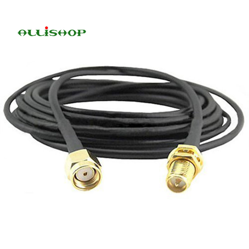 ALLiSHOP RP-SMA male socket jack to RP-SMA female brooches plug low loss LMR195 0-3Ghz pigtail cable for Antenna extension allishop sma male plug to rp sma female jack coaxial pigtail cable adapter connector 20m rg174