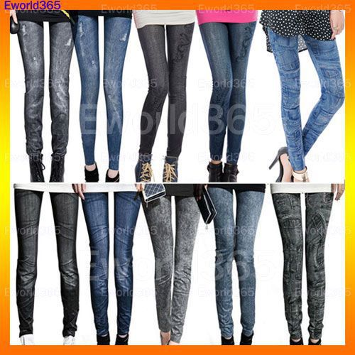 New Fashion Womens Skinny Denim Stretch Jeggings  ...
