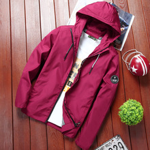 New 2019 Autumn hooded jacket men thin jackets casual lover hip hop windbreaker coat zipper parka