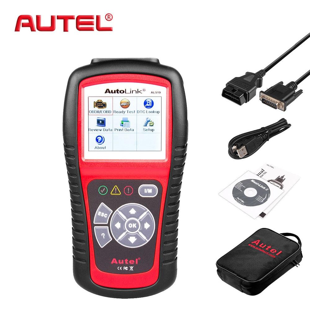 Autel Original Car Diagnostic Tool OBD2 Automotive Scanner AL519 OBD 2 EOBD Fault Code Reader Scan Tools Escaner Automotriz xtool ps100 obd2 car code reader trouble code reader
