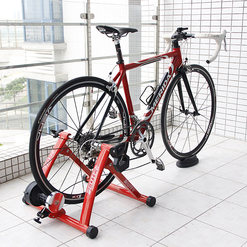 Free Indoor Exercise Bike Trainer 6 Speed Magnetic Resistance MTB Road Bike Cycling Roller Bicycle Trainer