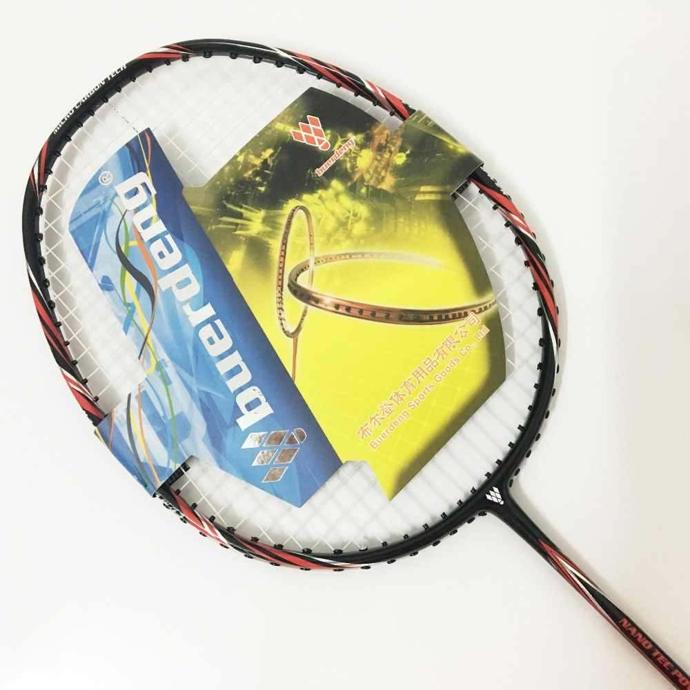 30Lbs badminton racket 3U best full carbon badminton rackets offensive badminton racket man single adults 4U racket badminton