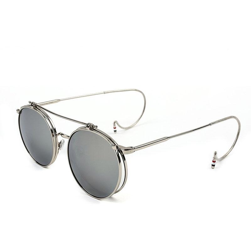 bfc0b8c335fb33 ZUCZUG Vintage Steampunk lunettes de Soleil Hommes Ronde DesignSteam Punk  Métal À Clapet lunettes de Soleil femmes Revêtement Réfléchissant lunettes  de ...