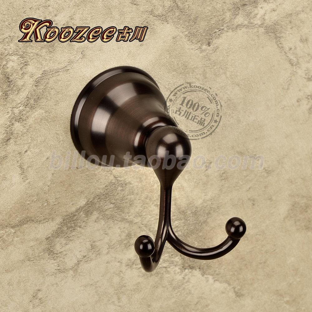 Furukawa European Retro Black And Brown Coat Hooks Coat Hooks Single Hook Antique Bronze Copper Bathroom Accessories Bathroom Ho