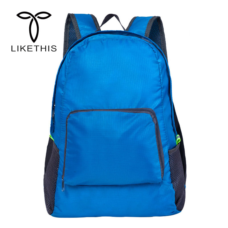 Unisex Light weight Backpacks Foldable Waterproof Man Travel Student School Bag Large capacity portable Backpack Bags A0075Unisex Light weight Backpacks Foldable Waterproof Man Travel Student School Bag Large capacity portable Backpack Bags A0075