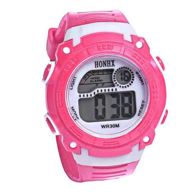 Hot sale Children Girls Digital LED Quartz Alarm Date Sports Wrist Watch In stoc